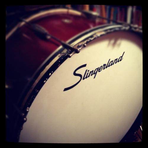 Before: The old Slingerland logo
